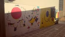 Mural junto al gimnasio